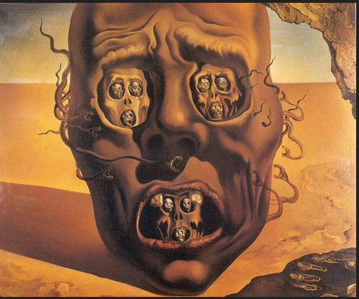 salvador dali face of war